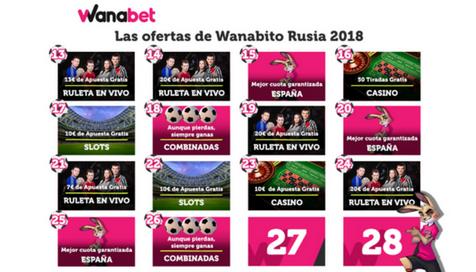 Calendario de Bonos del Mundial de Wanabet