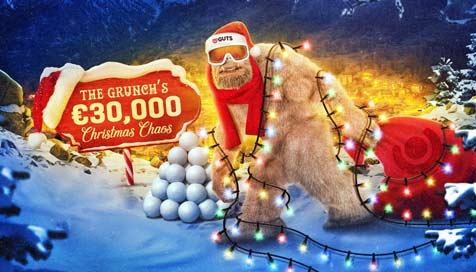 Win a share of €3,000 with the Icicle Igloo mystery prize drop at Guts Casino