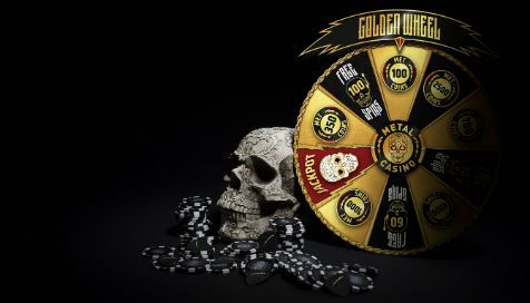 Spin the Golden Wheel and an epic jackpot prize could be yours at Metal Casino!