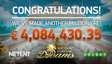 Mega Fortune Dreams entrega un premio de más de 4 millones de €