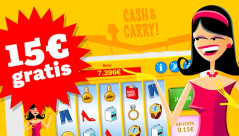 Paf casino te regala 15€ GRATIS para jugar en Cash and Carry