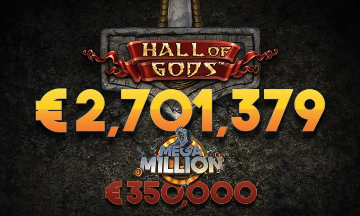 Mega Jackpot Gewinner in Hall of Gods