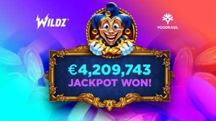 4,2 Mio. Euro Jackpot im Wildz Casino geknackt