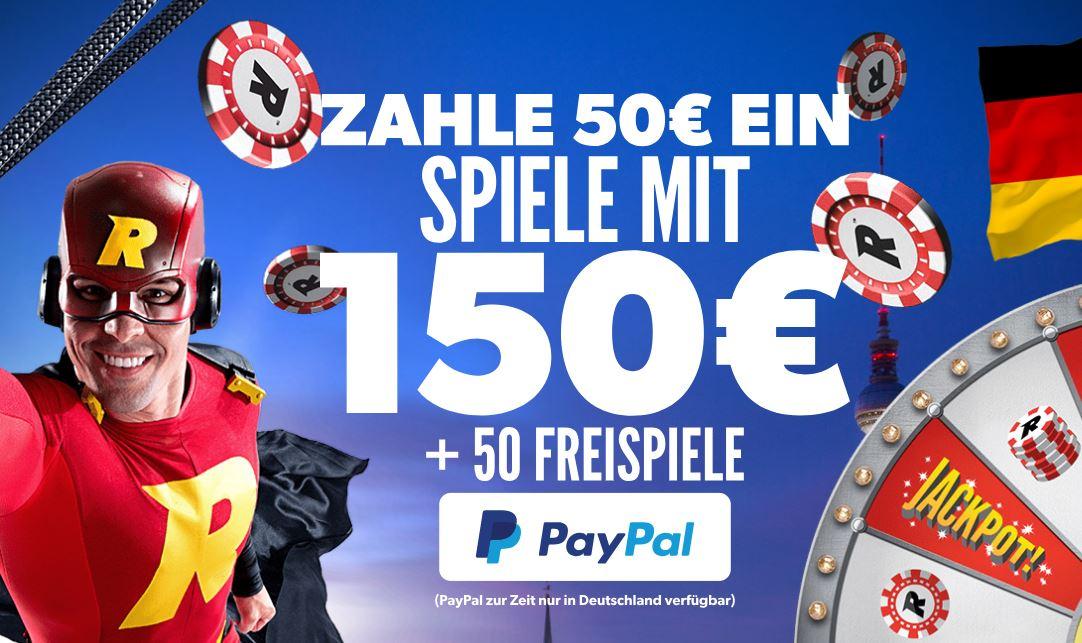 Rizk Online Casino jetzt auch mit PayPal!