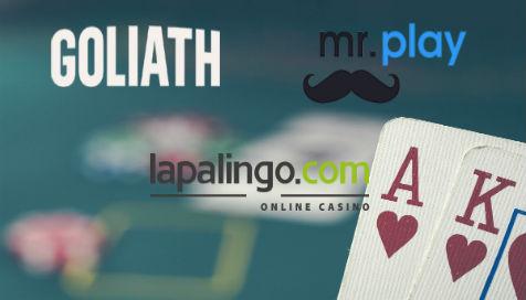Tutustu uutuuskasinoihin: Lapalingo, Mr Play ja Goliath Casino