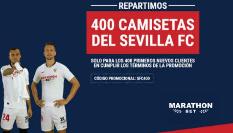 ¿Quieres una camiseta del Sevilla FC? ¡Regístrate hoy en Marathonbet!