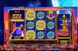 新赢家通过PLAYOJO玩PRAGMATIC PLAY的WOLF GOLD 获得100万英镑的奖励