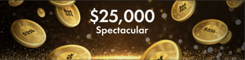 $25,000 Spectacular Prize Draw at Bet365 New Jersey