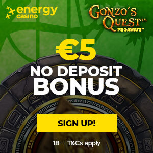Gonzo's Quest MegaWays Offer at EnergyCasino