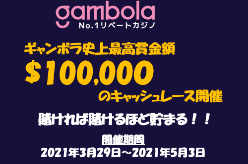 【2021年4月限定】ギャンボラ史上最高額のプロモーション開催