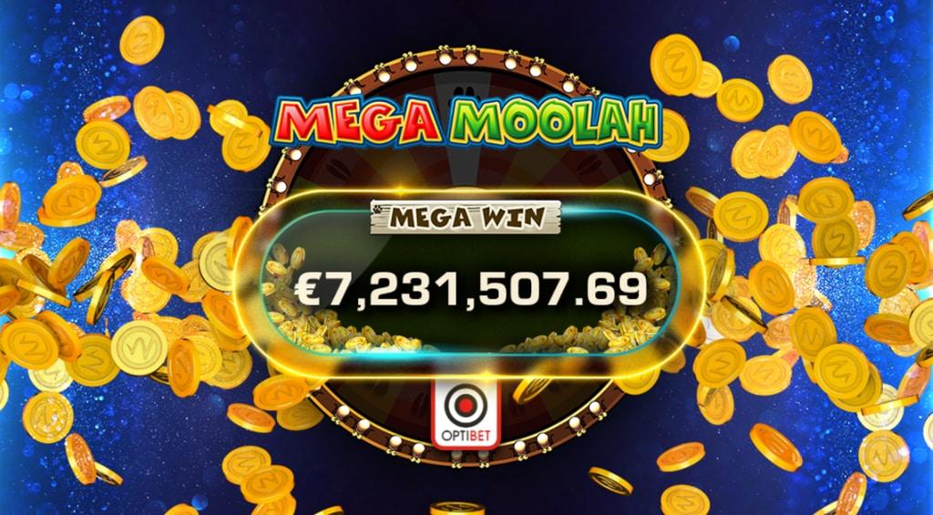 Выигрыш джекпота 7,2 млн. евро в Mega Moolah